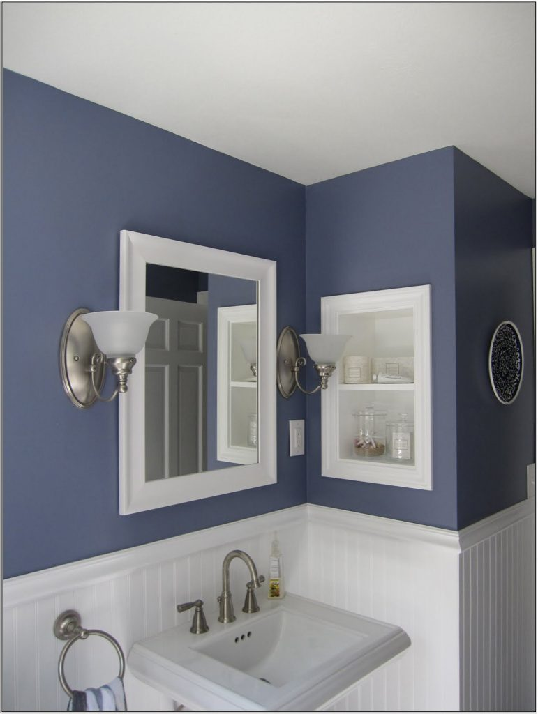 gris et bleu deux couleurs en osmose dans la salle de bain 23 id es d co. Black Bedroom Furniture Sets. Home Design Ideas