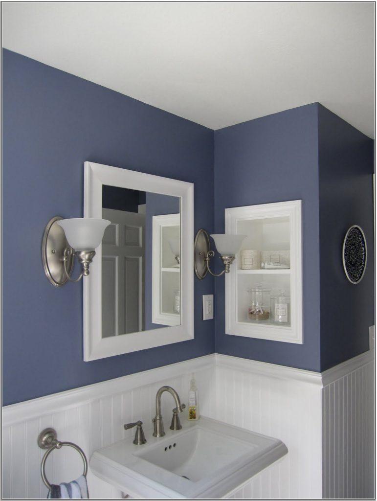 Gris et bleu: deux couleurs en osmose dans la salle de bain (23 ...
