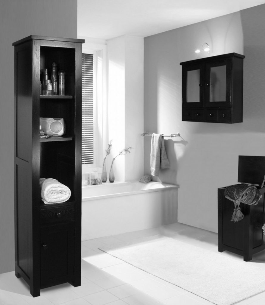 30 id es incroyables de salle de bain gris et blanc. Black Bedroom Furniture Sets. Home Design Ideas