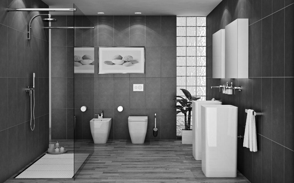 Captivant Idee Salle De Bain Gris Blanc (2)