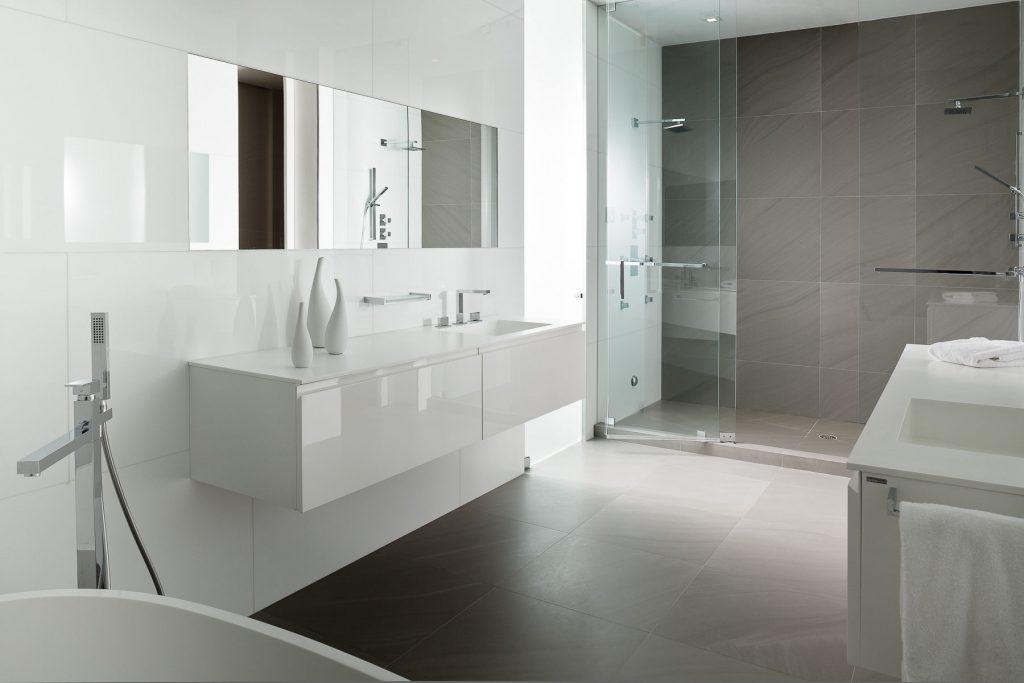 30 idées incroyables de salle de bain gris et blanc - Idee Salle De Bain Grise