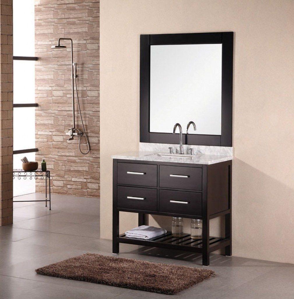 Salle de bain taupe: 35 idées d\'aménagement avec un mobilier zen