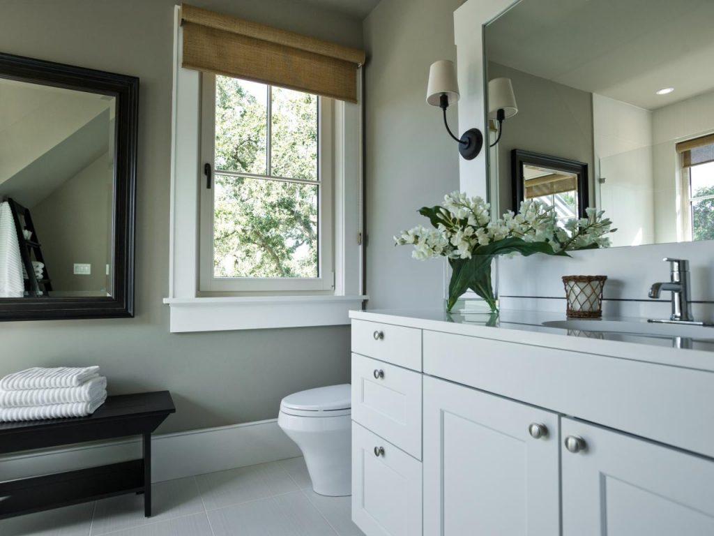 Salle De Bain Taupe dedans salle de bain taupe: 35 idées d'aménagement avec un mobilier zen