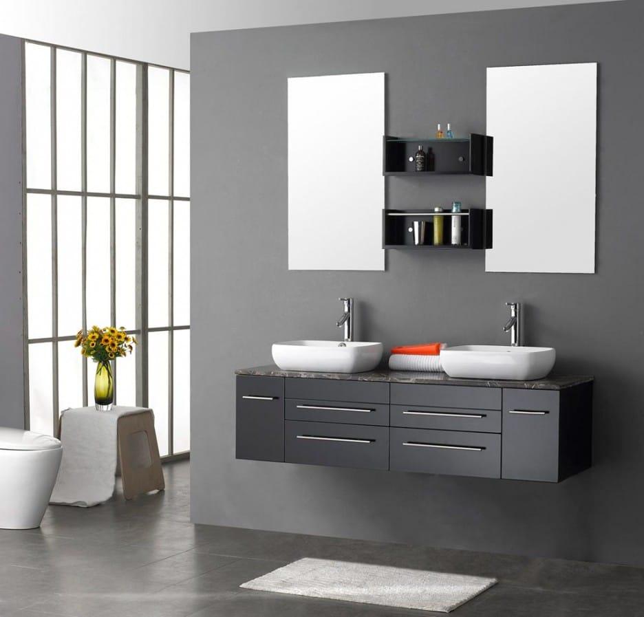 Salle De Bain Taupe avec salle de bain taupe: 35 idées d'aménagement avec un mobilier zen