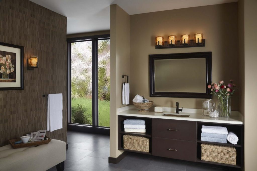 107 Best Bathroom Lighting Over Mirror Images On Pinterest: Salle De Bain Taupe: 35 Idées D'aménagement Avec Un