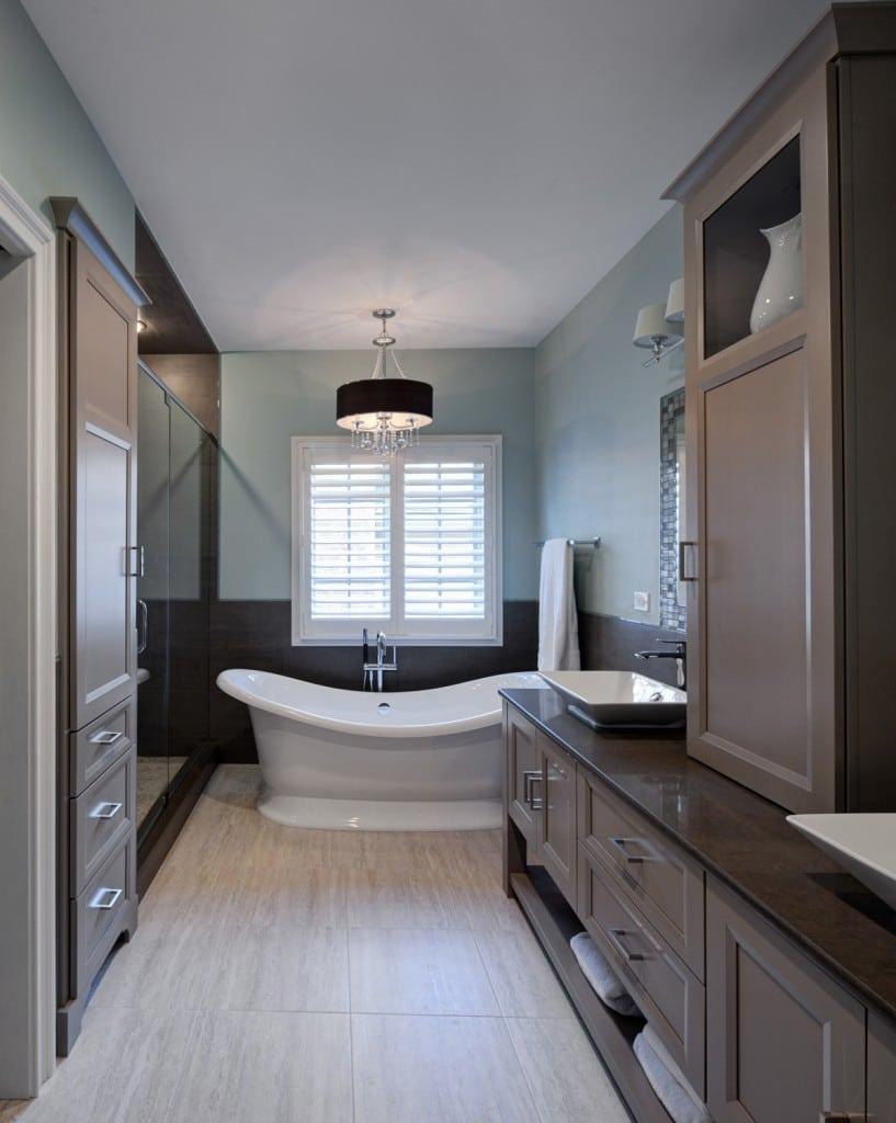 Salle de bain taupe: 35 idées d'aménagement avec un mobilier zen