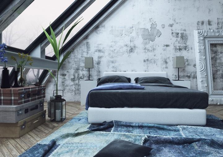 Chambre bleu grise et beige: 28 modèles classiques et modernes