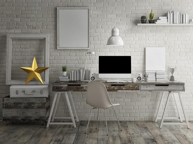 Sticker pour table et bureau blanc bois u pixers nous vivons