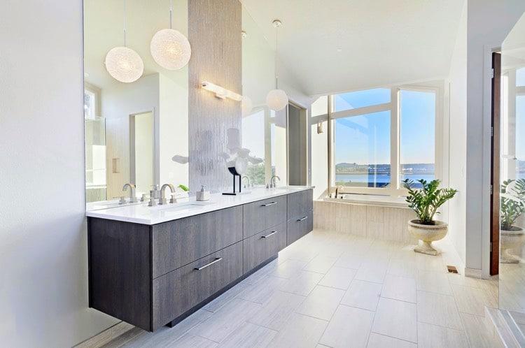 Salle de bains beige 91 id es pour vous inspirer for Salle de bain beige et blanc