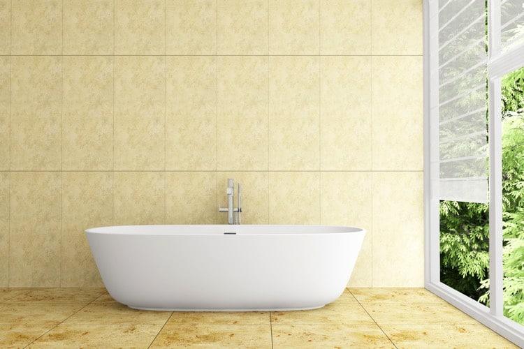 salle de bains jaune 64 id es qui vont vous faire craquer. Black Bedroom Furniture Sets. Home Design Ideas