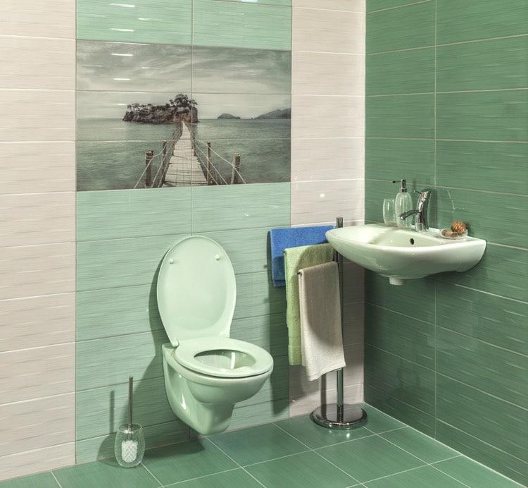 Carrelage salle de bain vert d eau excellent salle de for Couleur salle de bain moderne