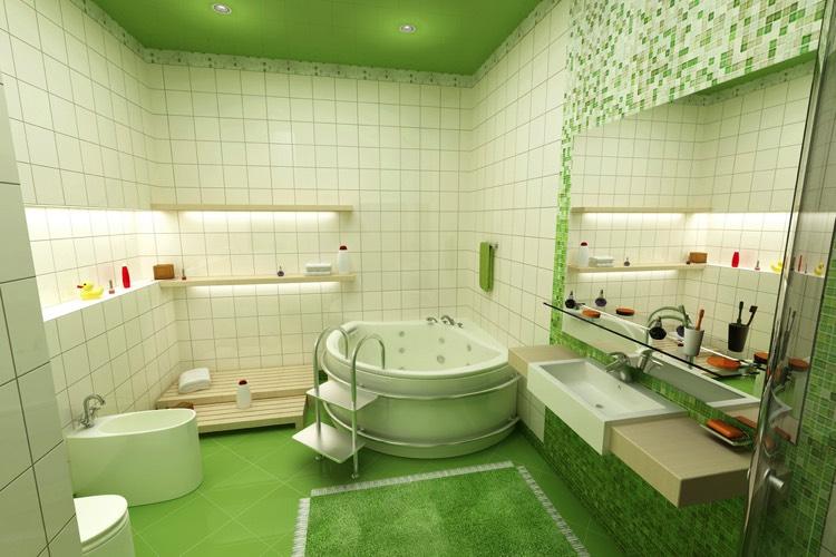 salle de bains verte :125 idées pour vous convaincre ! - Carrelage Vert Salle De Bain