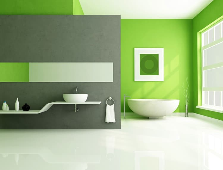salle de bains verte 125 id es pour vous convaincre. Black Bedroom Furniture Sets. Home Design Ideas