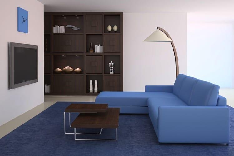 Salon bleu 50 id es d co pour int grer le bleu dans son for Canape bleu indigo