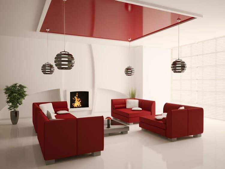 Salon et salle à manger rouge design: 30 exemples modernes et classiques
