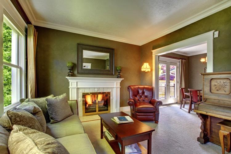 37 id es de salon vert entre l gance et nature. Black Bedroom Furniture Sets. Home Design Ideas