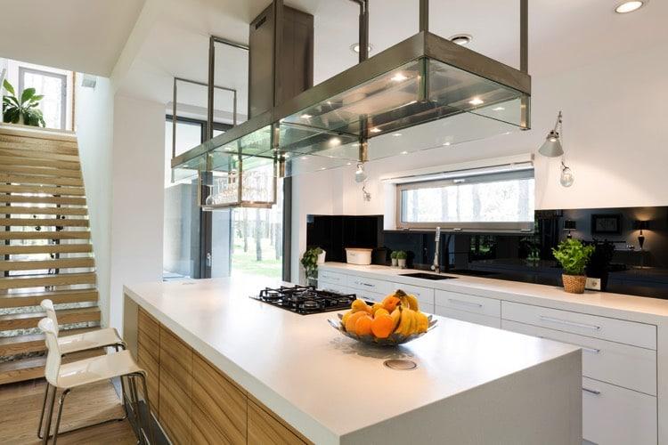 52 id es design de tabouret de cuisine pour am nager un bar ou un lot central - Hauteur de la hotte de cuisine ...