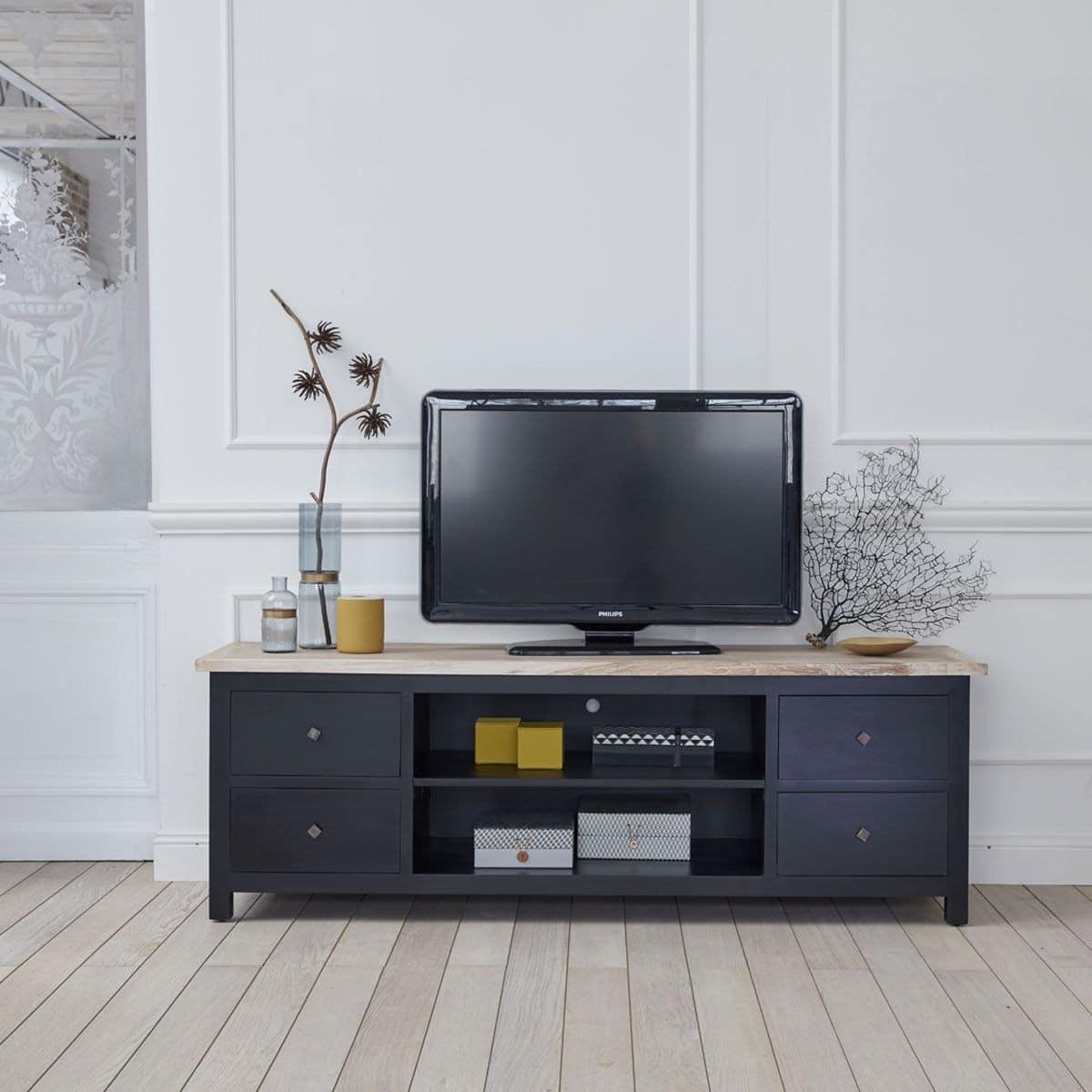 Meuble Tv Industriel 40 Id Es Et Mod Les 100 D Cal S # Meuble Tele Acier