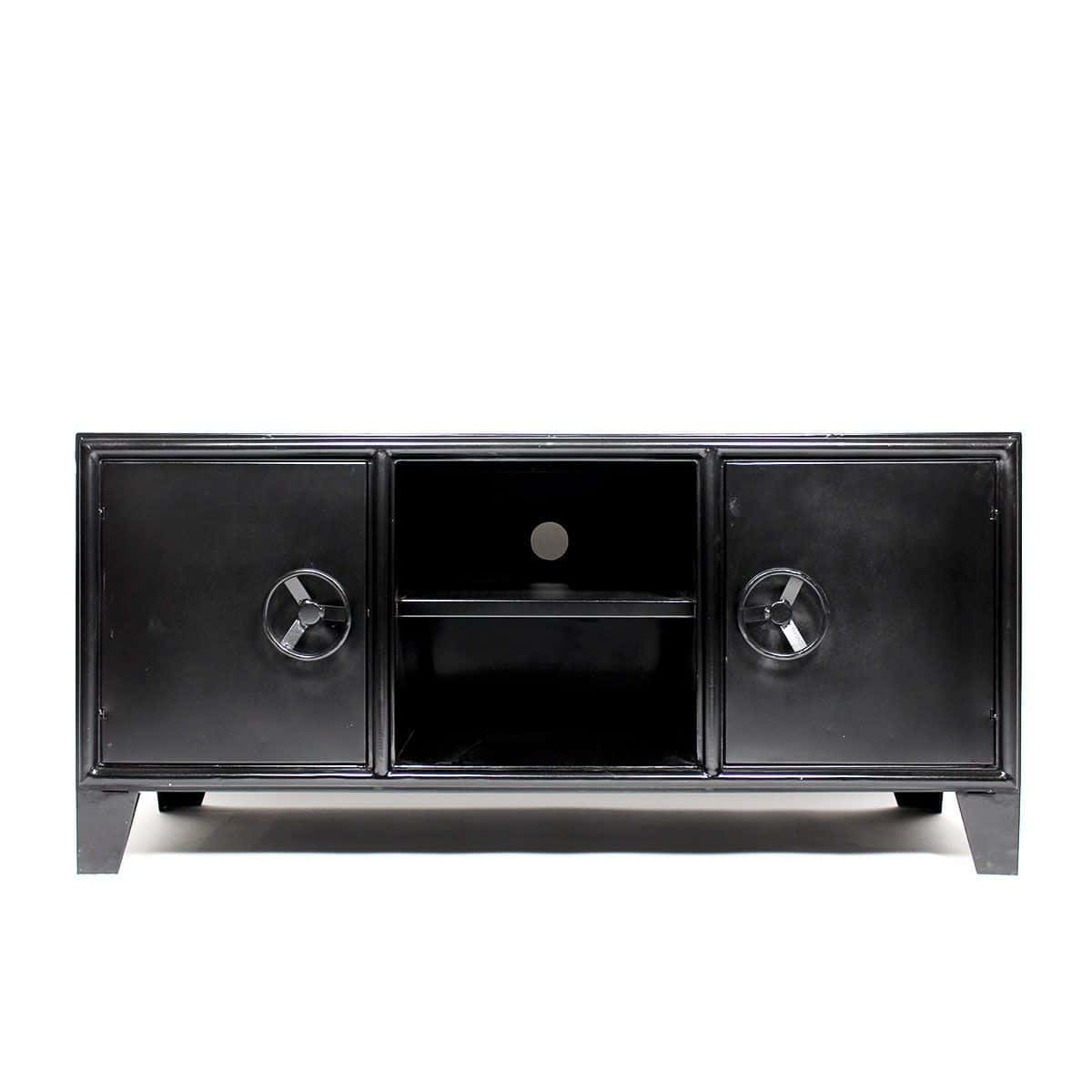Meuble Tv Industriel 40 Id Es Et Mod Les 100 D Cal S # Meuble Acier Noir
