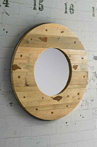 Miroir industriel 25 id es tonnantes du rustique au vintage for Miroir rond industriel