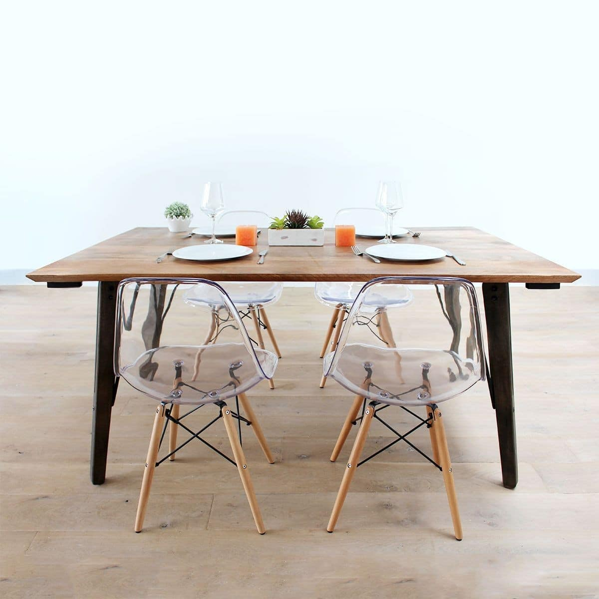 Table Salle À Manger Carrée Extensible top 30 de la table industrielle | guide 2019