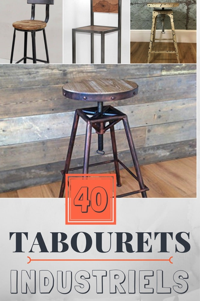 top 40 du tabouret de bar industriel guide et s lection. Black Bedroom Furniture Sets. Home Design Ideas