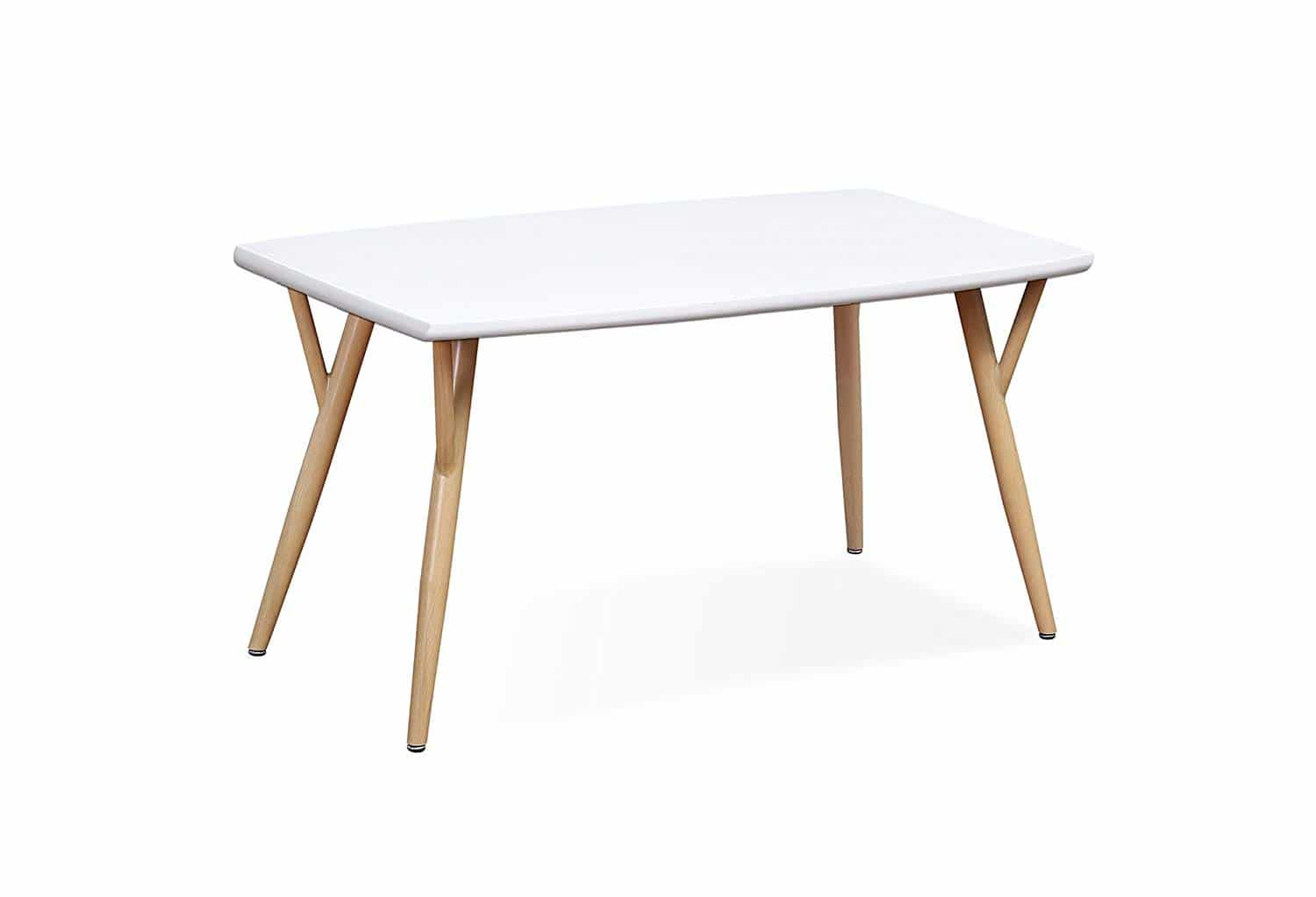 Table blanche haute scandinave