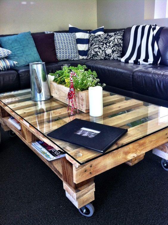 Table basse en palette: 50 idées et astuces de fabrication