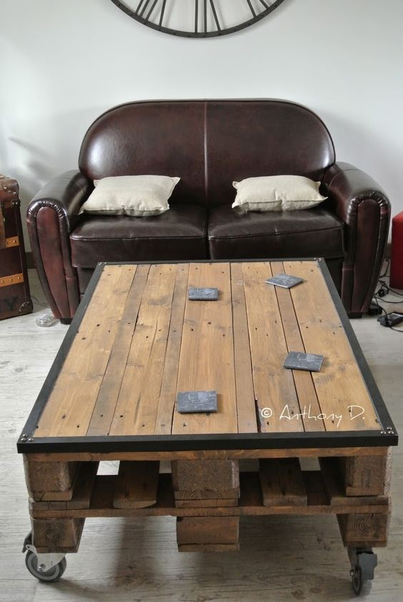 fabriquer table basse avec palette cool merveilleux comment fabriquer une table basse avec des. Black Bedroom Furniture Sets. Home Design Ideas