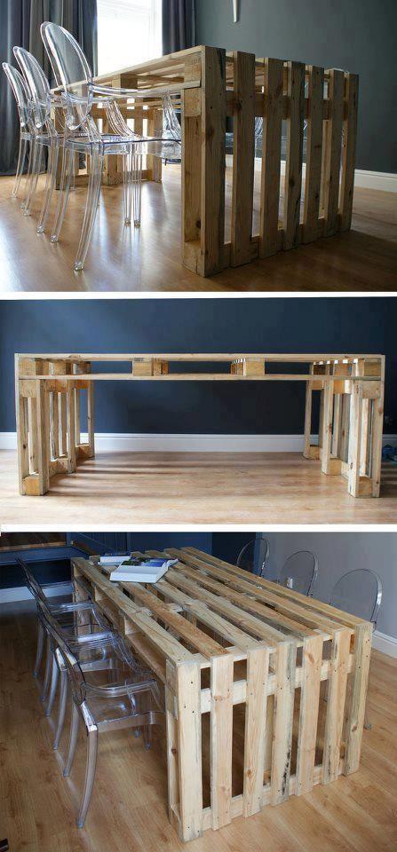 Idee Palette Bois table en palette : 25 idées pour fabriquer votre propre table en bois !