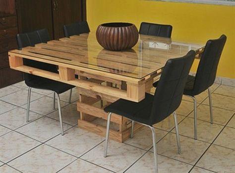 Table en palette : 25 idées pour fabriquer votre propre table en ...