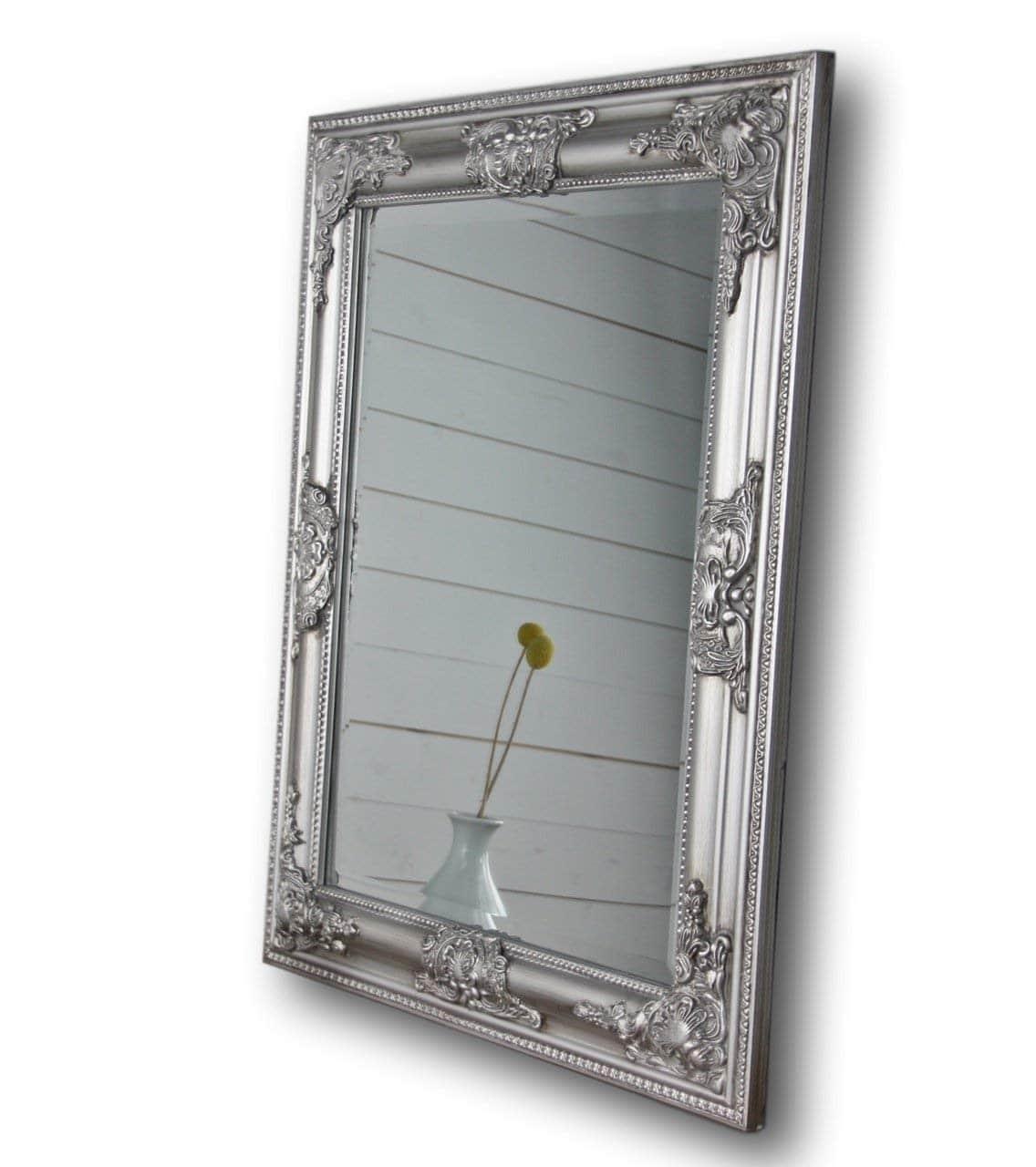 Miroir avec cadre imitation métal