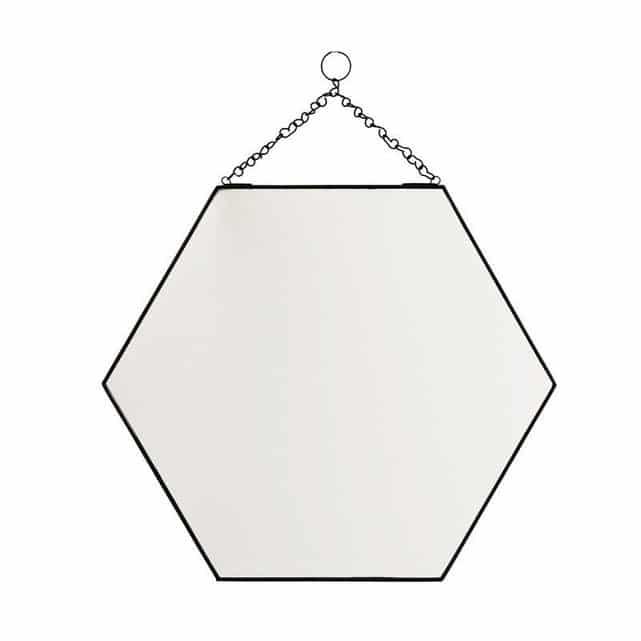 miroir octogonal de style vintage