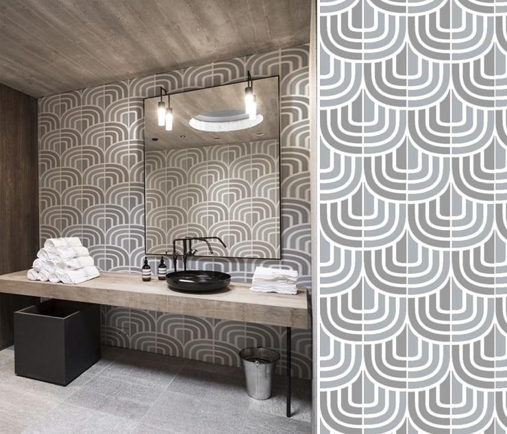 Choix et pose du papier peint dans votre salle de bains - Papier peint pour salle de bain ...