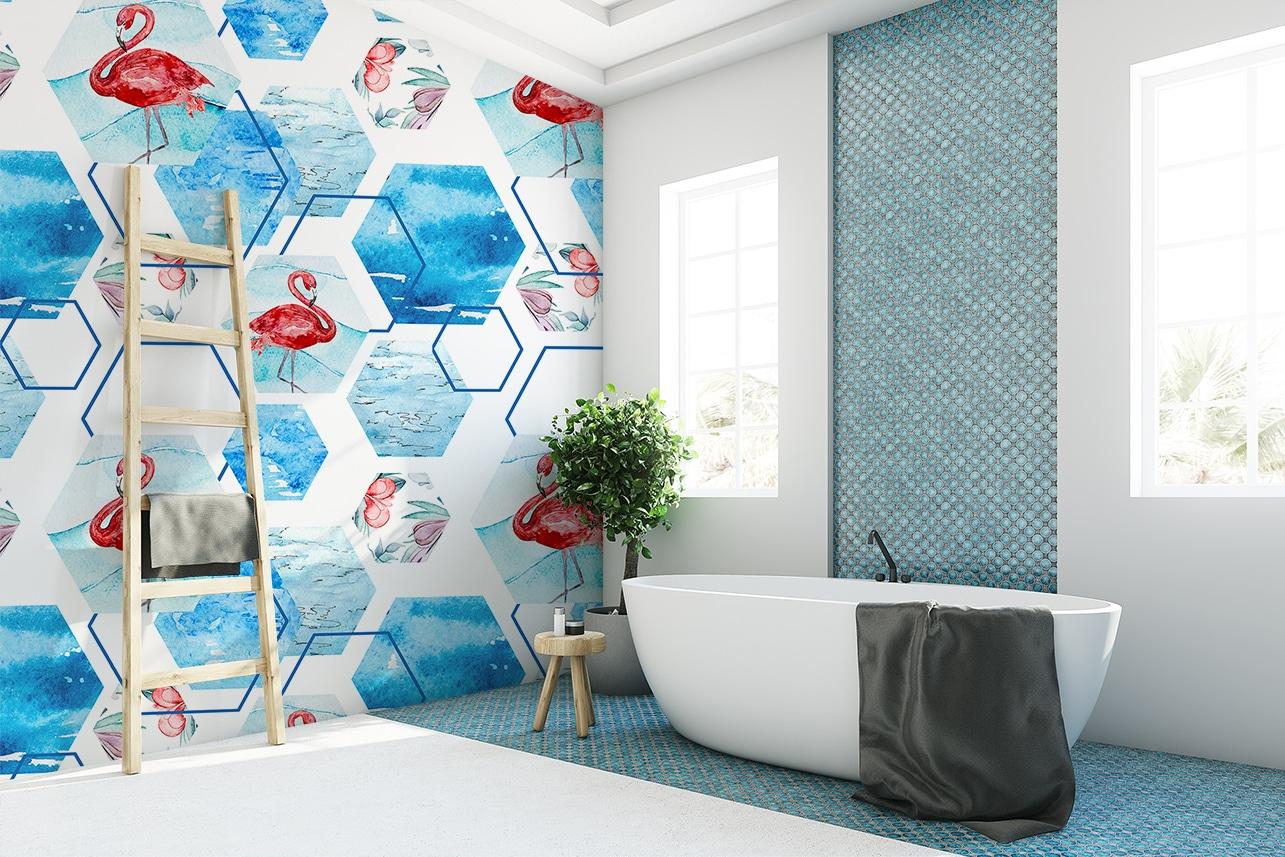 papier peint dans salle de bain 28 images j ose le. Black Bedroom Furniture Sets. Home Design Ideas
