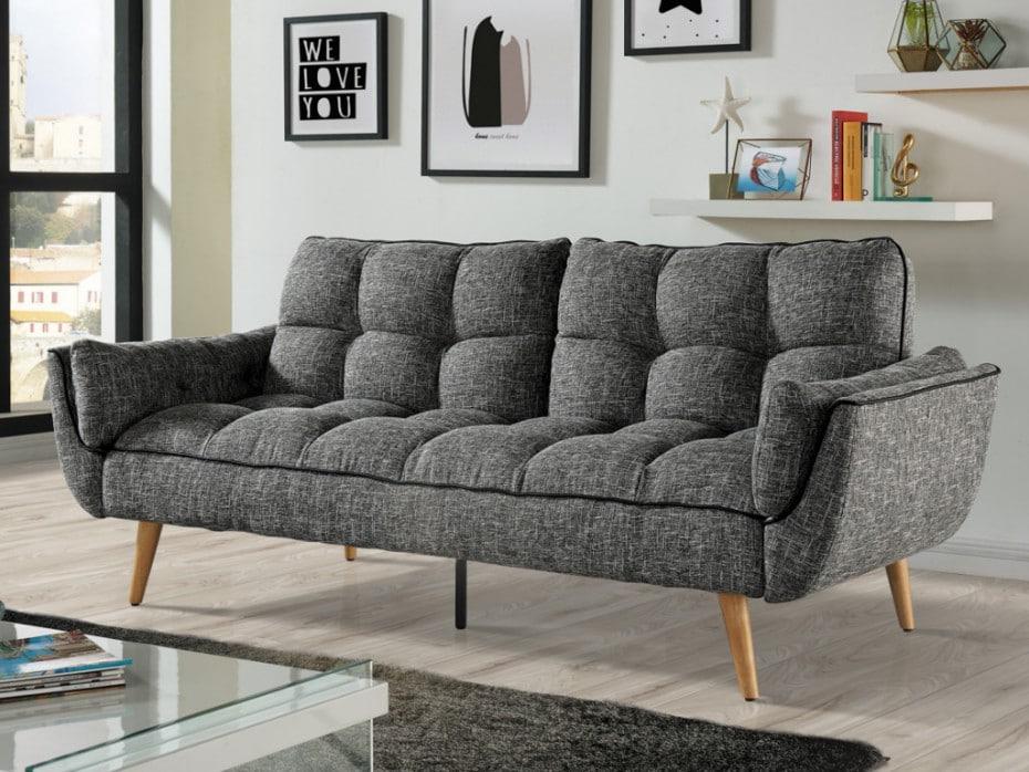 Canapé en tissu scandinave gris foncé