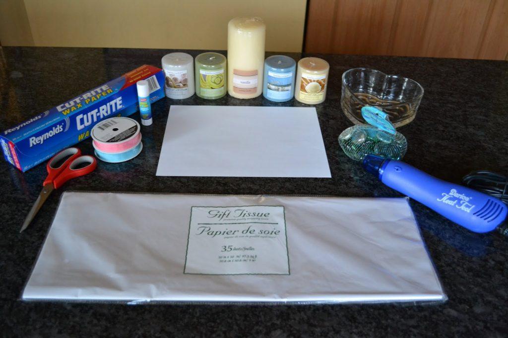 Tout le matériel nécessaire pour personnaliser vos bougies