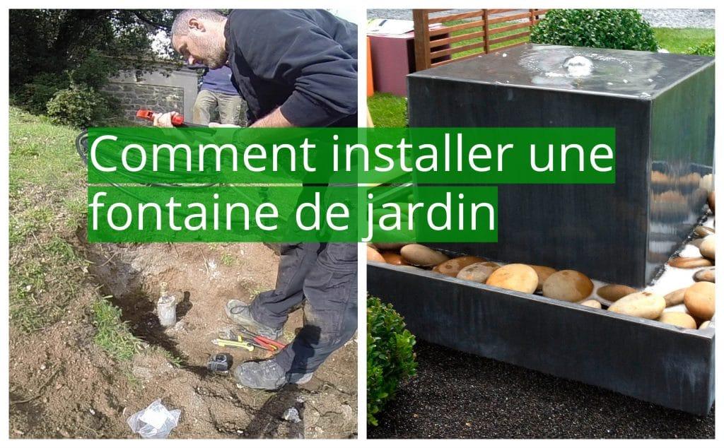 Comment installer une fontaine de jardin: nos 7 conseils