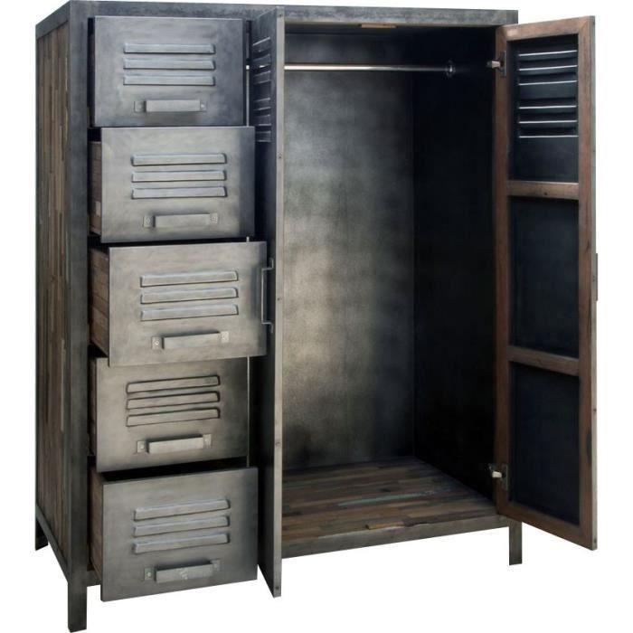 Un vestiaire métallique vintage industriel