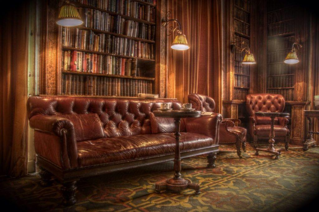 Un salon anglais traditionnel