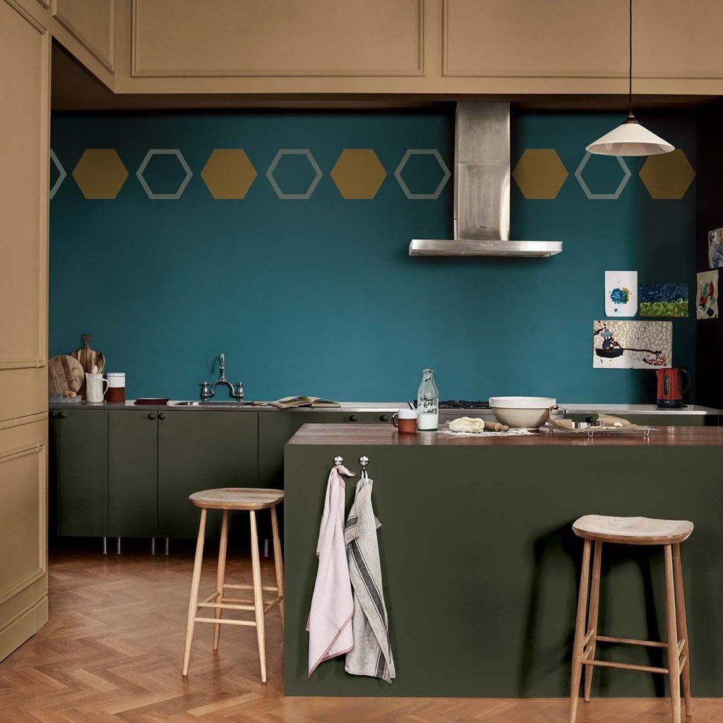 Peinture verte pour murs de cuisine