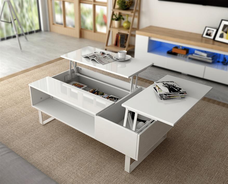 10 tables basses originales pour désencombrer un salon