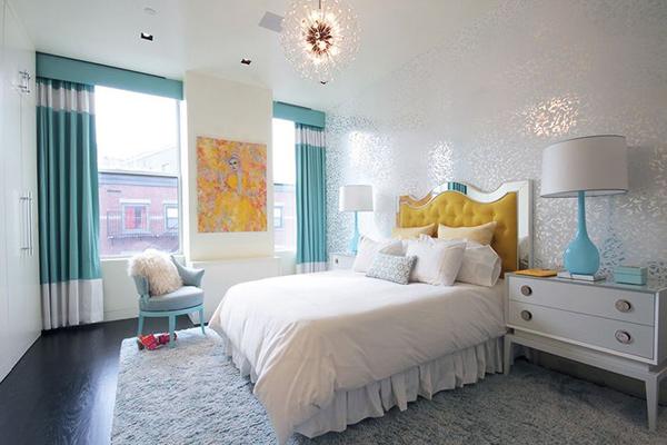 Stunning Chambre Turquoise Et Blanc Contemporary - Sledbralorne.com ...